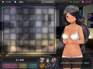 GAME - HuniePop Beli bedroom stage