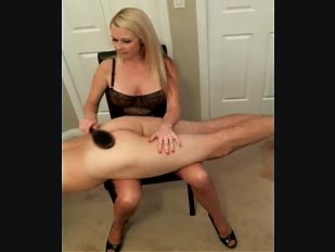 Scolded Spanked Jerked Off on Nylon Thighs