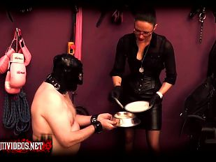 Mistress Krush - Puppy slut feeding time