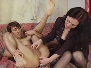 Mistress fucks guy