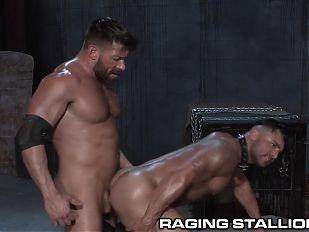 RagingStallion Bruno Bernal Pounds Slaves Hole