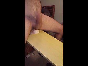 Full nude dildo ride hands free cum dripping