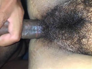 Metendo gostoso na buceta peluda da minha mulher