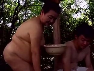 Japaneese granny, siep2 - sucking