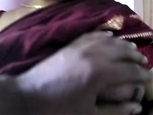 Tamil Aunty in Saree Hot Teasing