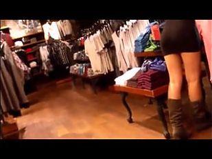 Bubble Butt Latina in Tight Mini Dress