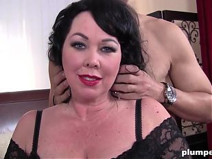 Horny BBW MILF Fucks and Sucks Big Cock PLUMPERD.COM