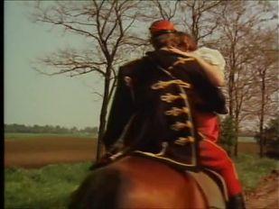 Vintages deutsches schnelles Ficken auf Pferd, Heuhaufen