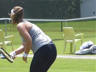 Swiss Tennis - Belinda Bencic - Spandex Sport Ass 1