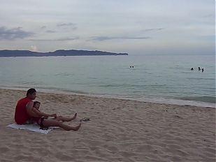 Filipina girlfriend feet at beach