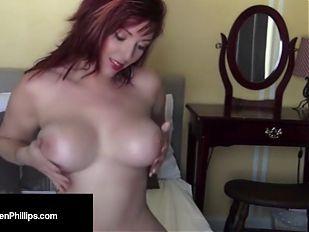 Dirty Talking Red Head Lauren Phillips Wants Your Warm Cum!